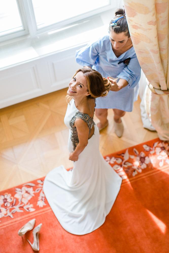 Getting Ready für Hochzeit im Palais Coburg