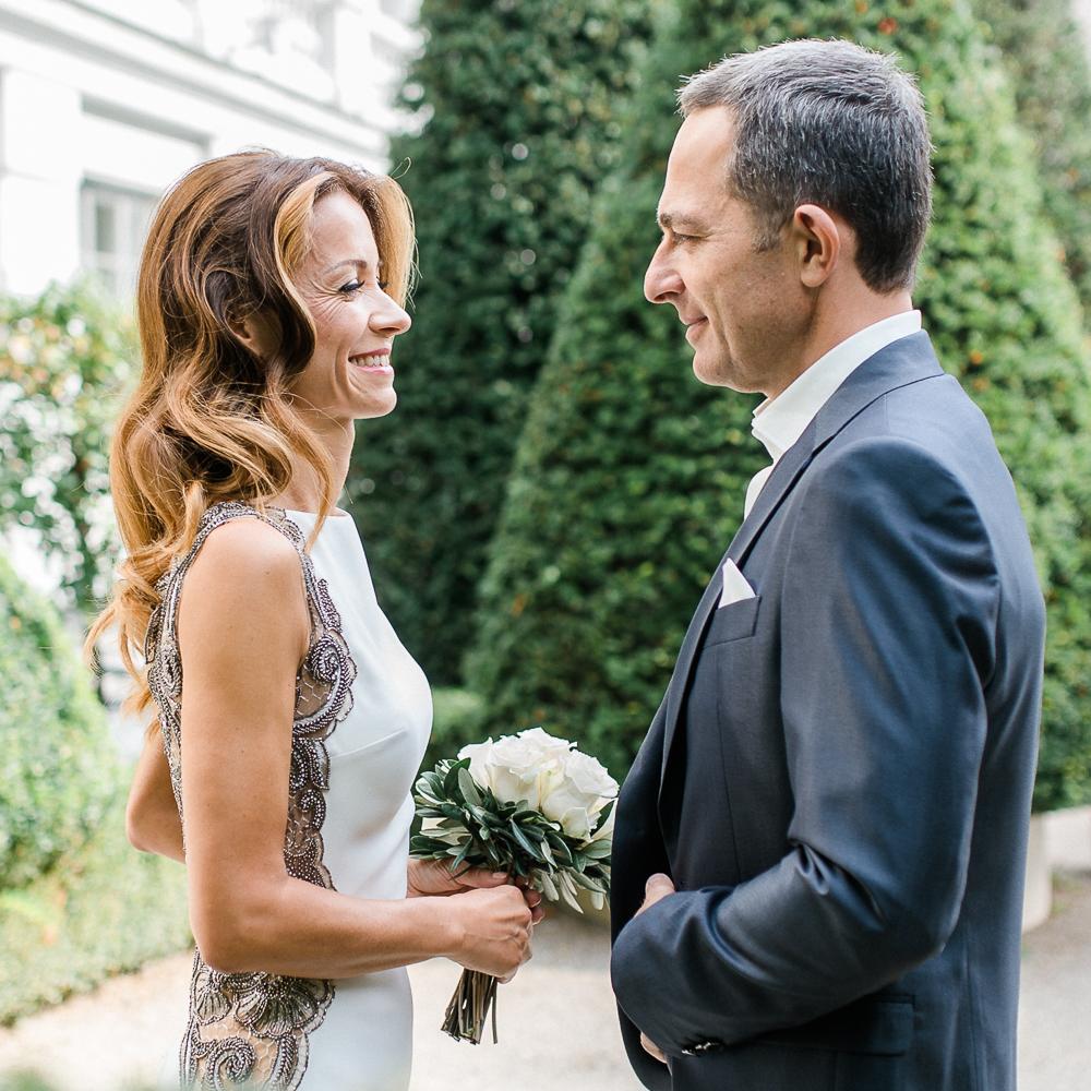 First Look Hochzeit Palais Coburg Wien