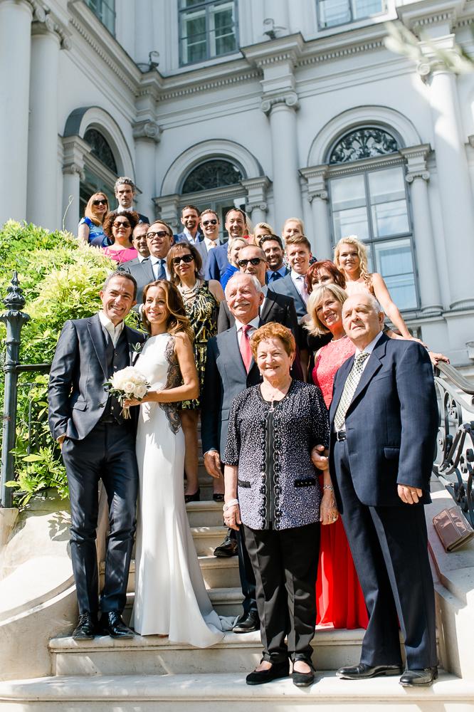 Hochzeit Palais Coburg in Wien - Gruppenfoto