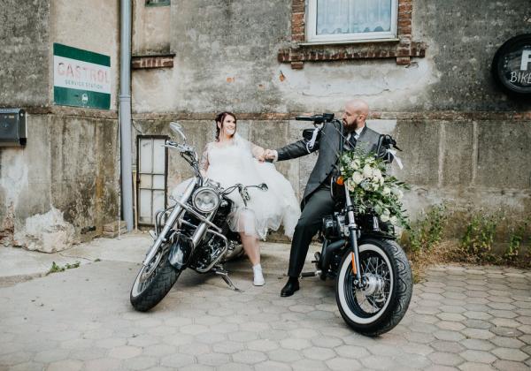 Biker Hochzeit am Neufeldersee