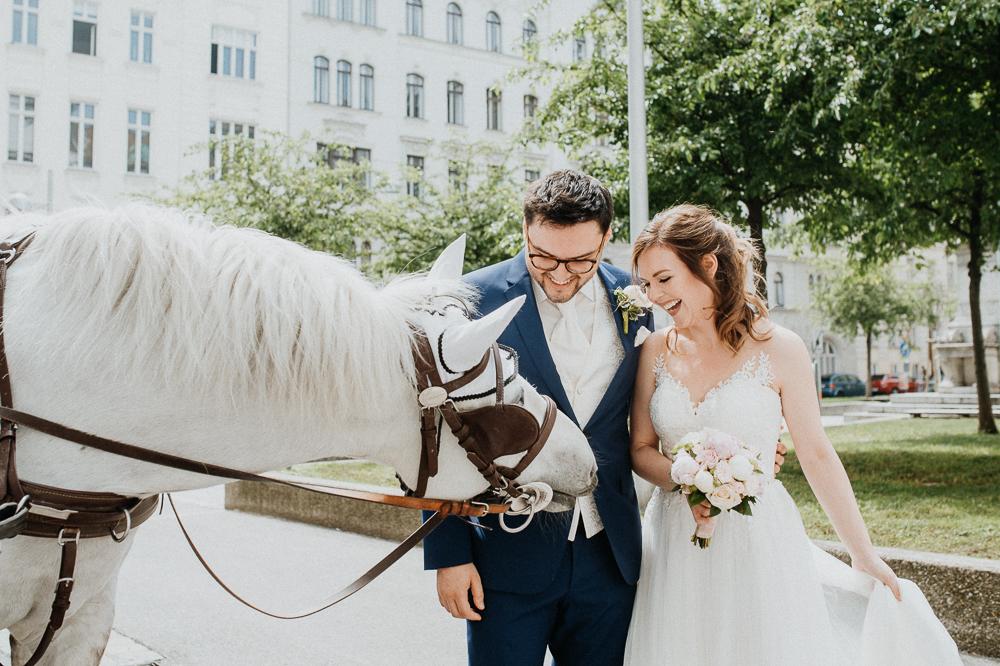 Brautpaar in Wien