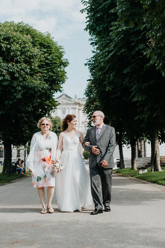 Hochzeit mit Spaziergang durch Wien