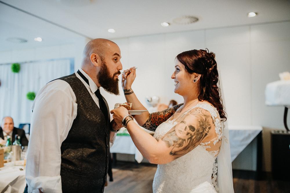 Hochzeitstorte für den Bräutigam