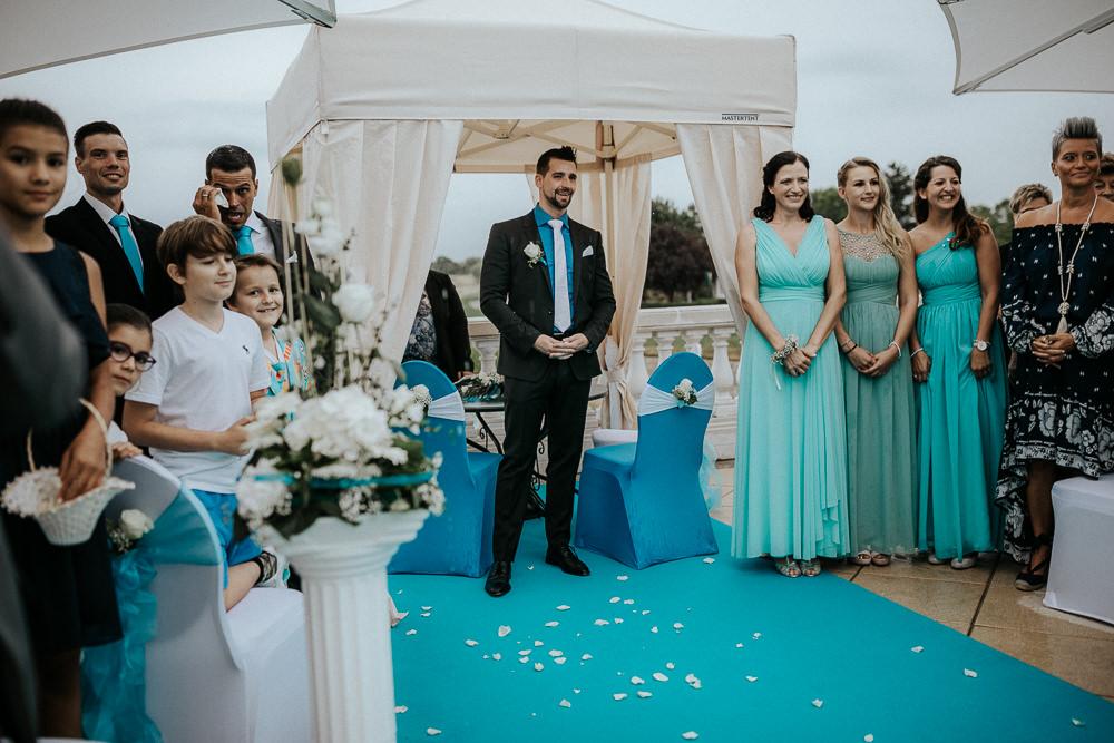 Hochzeit Brautjungfern Bräutigam