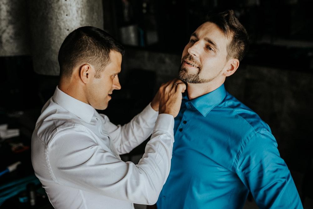 Hochzeitsfotos bei Getting Ready in Fontana Golfresort