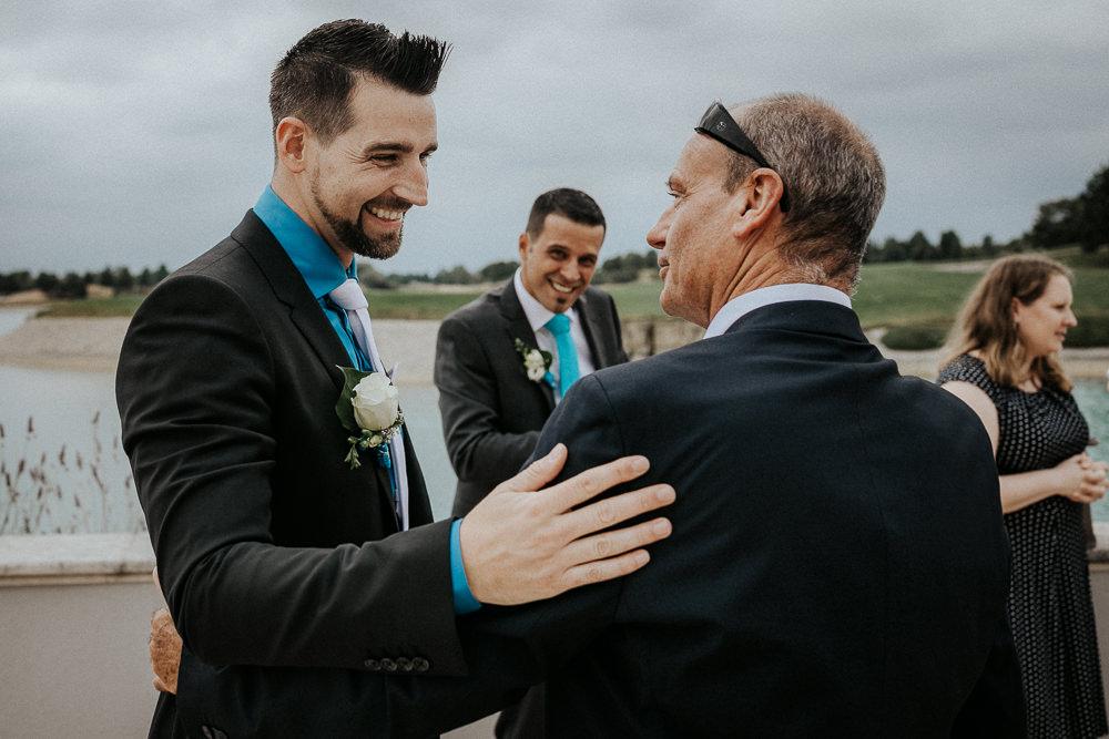 Hochzeitsgäste Empfang im Fontana Golfresort