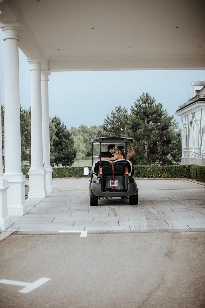 Hochzeitsbilder im Golfclub