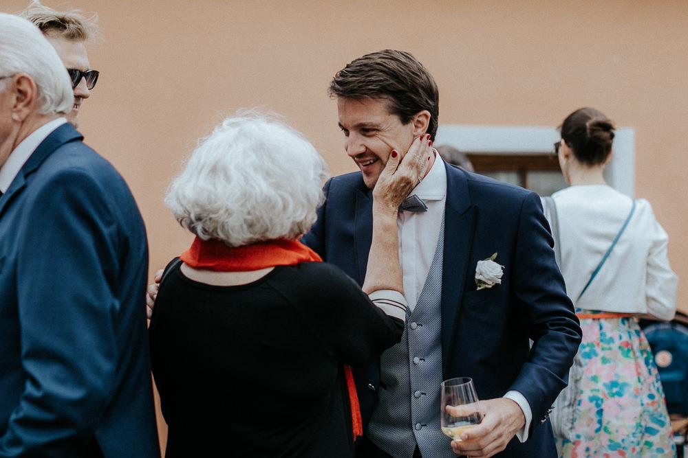 Begrüßung Gäste Hochzeit