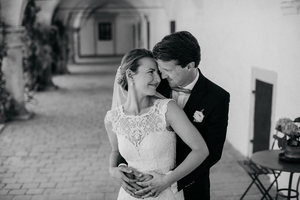 Hochzeitsbilder am Tag der Hochzeit in Schloss Guntersdorf