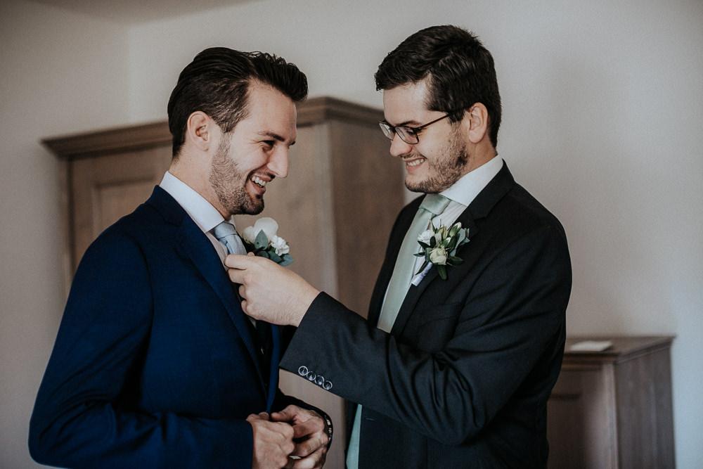Hochzeitsvorbereitung im Refugium Hochstrass