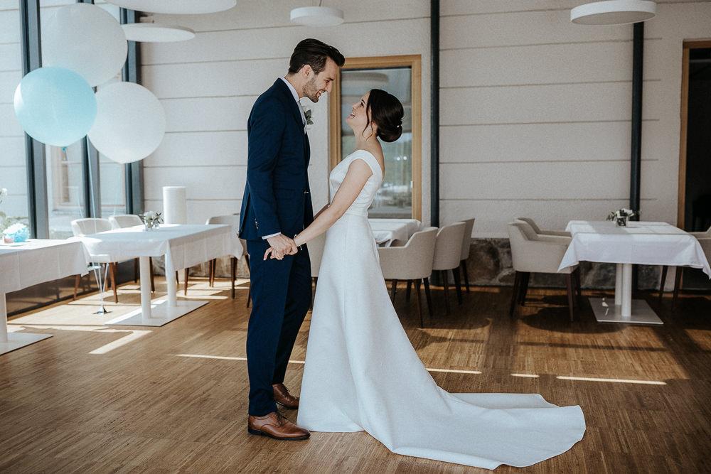 First Look am Hochzeitstag im Refugium Hochstrass